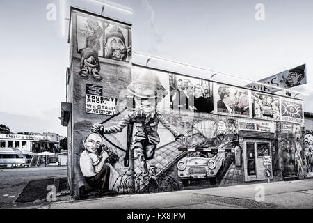 Store of East Side Gallery,  Berlin Wall - Stock Photo