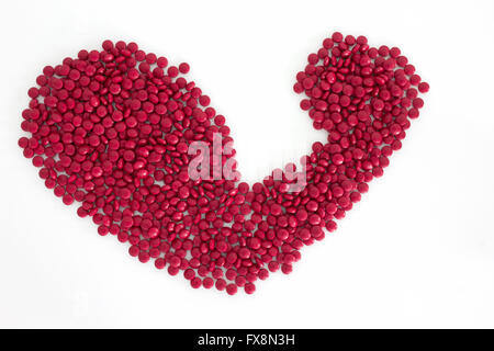 red drugs muscle shape - Stock Photo