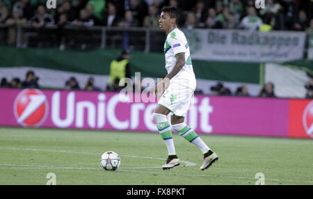 Luiz Gustavo in action during the league champion Wolfsburg match - Real Madrid © Laurent Lairys Agence Locevaphotos - Stock Photo