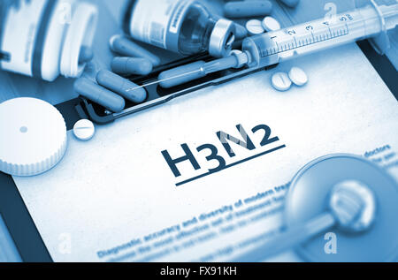 H3N2 Diagnosis. Medical Concept. - Stock Photo