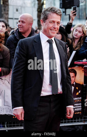 The European premiere of FLORENCE FOSTER JENKINS on 12/04/2016 at ODEON Leicester Square, London. Pictured:  Hugh - Stock Photo