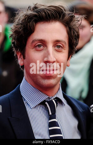 The European premiere of FLORENCE FOSTER JENKINS on 12/04/2016 at ODEON Leicester Square, London. Pictured:  Simon - Stock Photo
