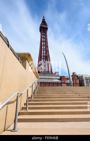 Blackpool, UK. 13th Apr, 2016. Tourism and council chiefs are celebrating the news that Blackpool Tower, situated - Stock Photo