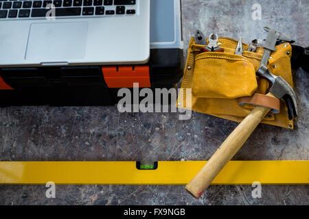 Carpenters tools - Stock Photo