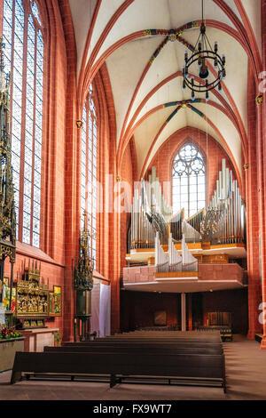 FRANKFURT AM MAIN, GERMANY - APRIL 29, 2012: Interior of Old St Nicholas Church in Frankfurt in Germany. - Stock Photo
