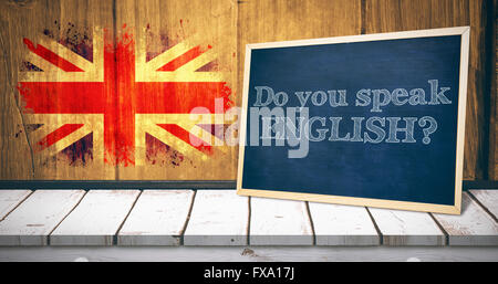 Composite image of do you speak english - Stock Photo