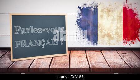 Composite image of parlez vous francais - Stock Photo