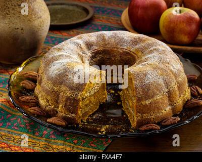 Autumn Bundt cake - Stock Photo