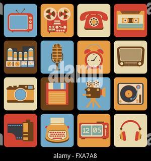 Vintage gadget icons - Stock Photo
