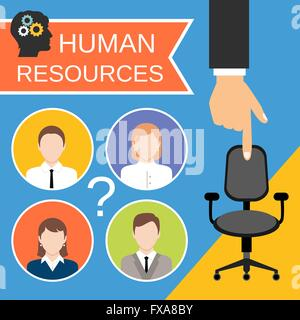 Human Resources Concept - Stock Photo