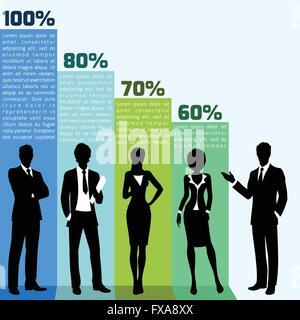 Business people infogrpahics - Stock Photo