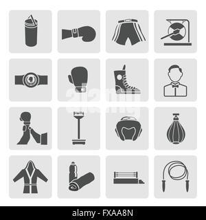 Set of Boxing Icons - Stock Photo