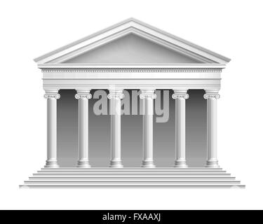 Temple with colonnade - Stock Photo