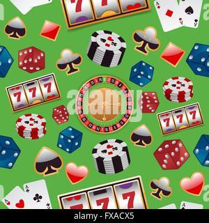 Casino seamless pattern - Stock Photo