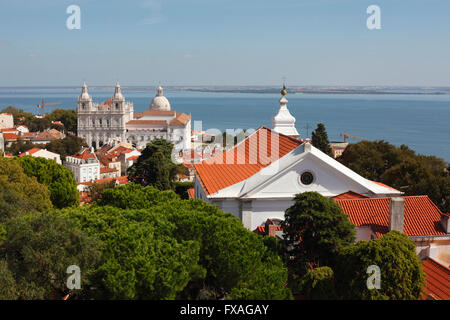 Monastery of São Vicente de Fora, Lisbon, Portugal - Stock Photo