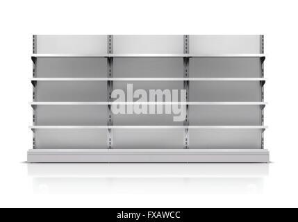 Supermarket Shelf Isolated - Stock Photo