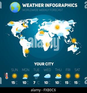 Weather Infographic Set - Stock Photo