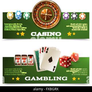 Casino Banners Set - Stock Photo