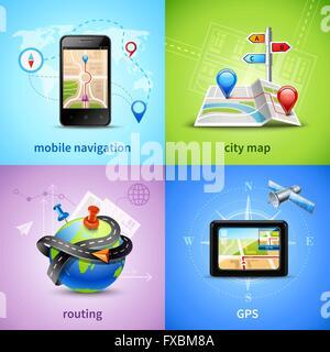 Navigation Concept Set - Stock Photo