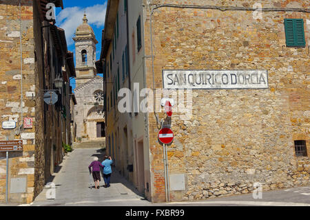 San Quirico d'Orcia, Val d'Orcia, Orcia Valley, UNESCO World Heritage Site,  Siena Province - Stock Photo
