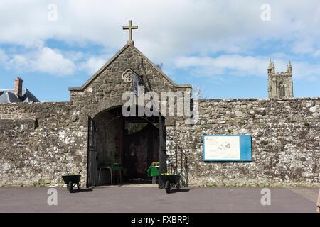 Shaftesbury Abbey Dorset UK - Stock Photo