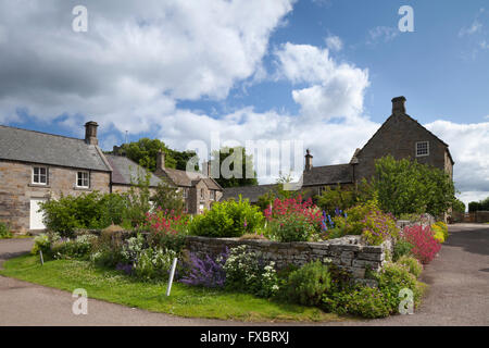 Houses Around A Typical English Village Green With Duck