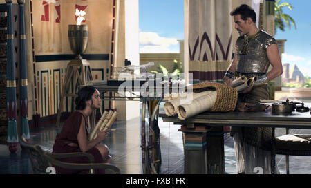 Gods of Egypt is a 2016 Australian-American fantasy action film, featuring ancient Egyptian deities, directed by - Stock Photo