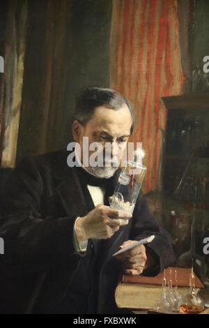 Louis Pasteur. Portrait, 1885 by painter Albert Edelfelt (1854-1905). Oil on canvas. Orsay Museum. Paris. France.