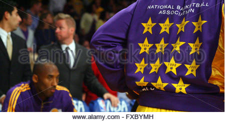 Los Angeles, California, USA. 27th Oct, 2009. Los Angeles Lakers' Kobe Bryant before a basketball game at the Staples - Stock Photo