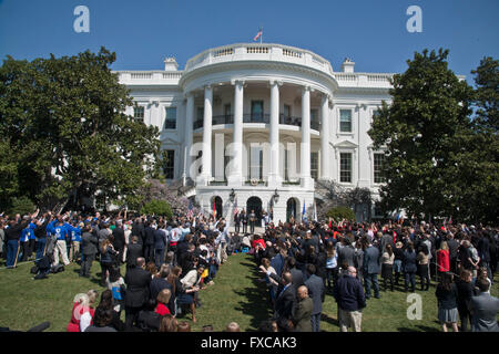 Washington DC, USA. 14th April, 2016. The White House, USA:  President Barack Obama and Vice President Joe Biden - Stock Photo