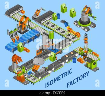industrial robot concept - Stock Photo
