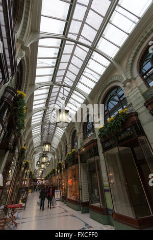 The Royal Arcade, designed by George Skipper, Norwich, Norfolk, England, UK - Stock Photo