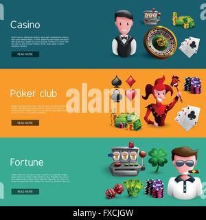 Set Of Three Casino Banners - Stock Photo