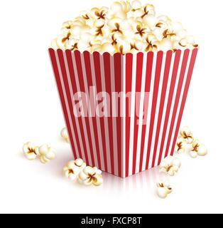 Realistic Popcorn Bucket - Stock Photo