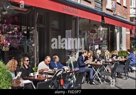 French restaurant Brasserie Van Dam Cornelis Schuytstraat  Oud Zuid Amsterdam   Dutch Netherlands