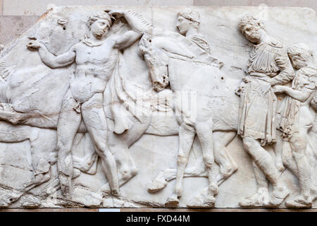 The Elgin Marbles, British Museum, London, England - Stock Photo