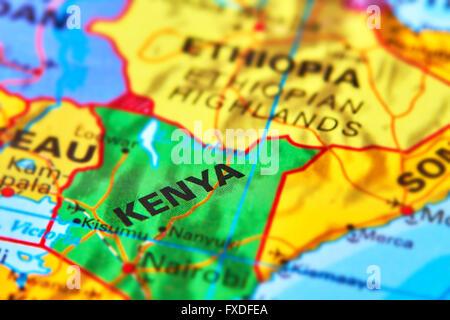 Kenya on world map stock photo 169356678 alamy kenya country in africa on the world map stock photo gumiabroncs Image collections