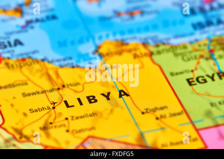 Libya country in africa on the world map stock photo 102330484 alamy libya country in africa on the world map stock photo gumiabroncs Images