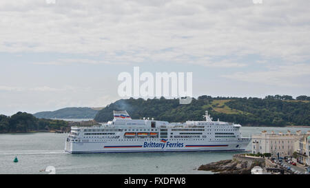 Brittany Ferries Roll On Roll Off Car Ferry Normandie Approaching