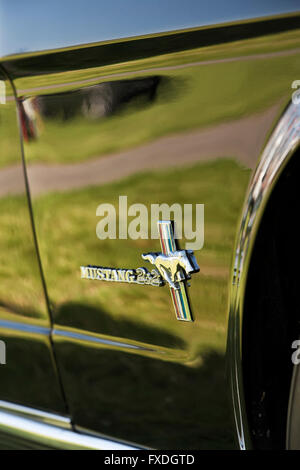 1965 Ford Mustang. Classic American car - Stock Photo