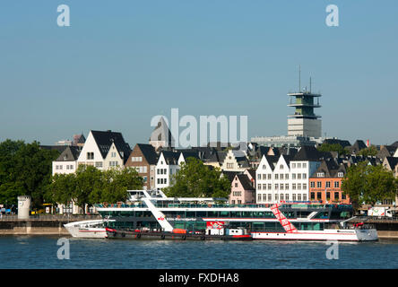 Köln, Blick von Deutz auf die Altstadt - Stock Photo