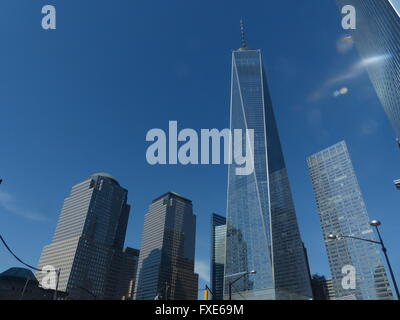 One World Trade Center, formerly Freedom Tower, designed by Architect David Childs - Stock Photo