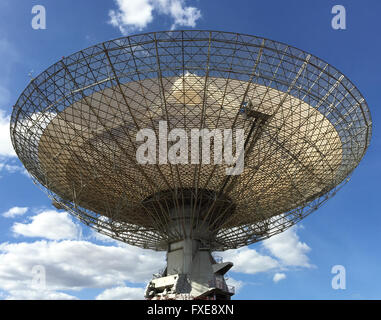 The radio telescope at Parkes in NSW commonly called 'The Dish'. - Stock Photo