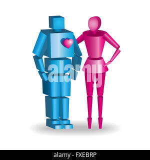 3d isometric family couples love wedding. Love people 3d icons. Flirting, love, first date, wedding and parenting. - Stock Photo
