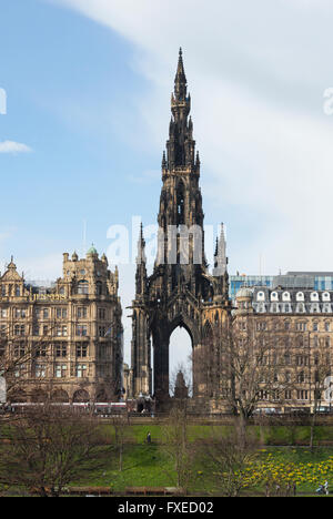Scott Monument and Jenners department store, Princes Street, Edinburgh, Scotland, UK, - Stock Photo