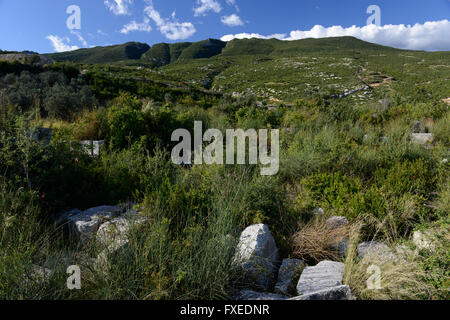TURKEY Antakya, view to mountain Musa Dagh, about 4000 armenian villagers from seven villages fled during the genocide - Stock Photo