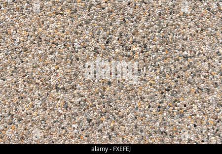 Colorful exposed aggregate concrete - Stock Photo