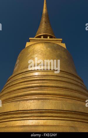 Gilded chedi on the Golden Mount Wat Saket Bangkok Thailand - Stock Photo