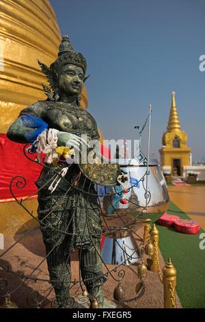 Golden Mount Wat Saket Bangkok Thailand - Stock Photo