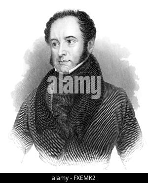 Theodore Edward Hook, 1788-1841, an English man of letters, composer and a civil servant in Mauritius, Theodore - Stock Photo